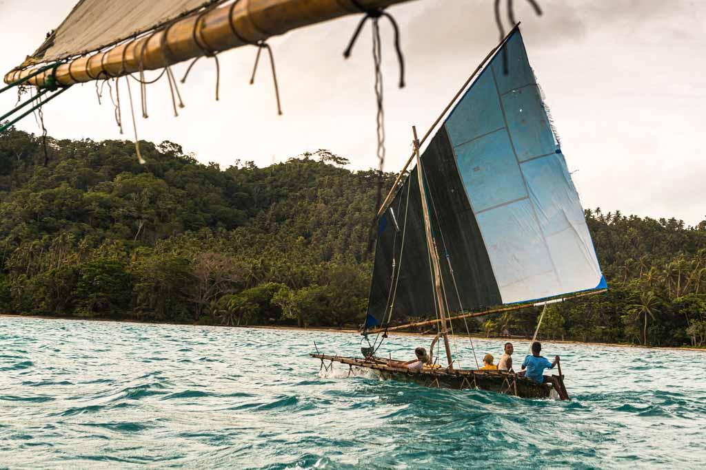 Traditional Prau boats at Papua New Guinea
