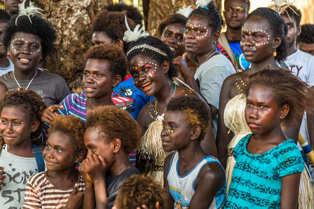 Bougainville's Vice Prime Minister Raymond Masono gives True North passengers first-hand information about the outcome of the independence referendum