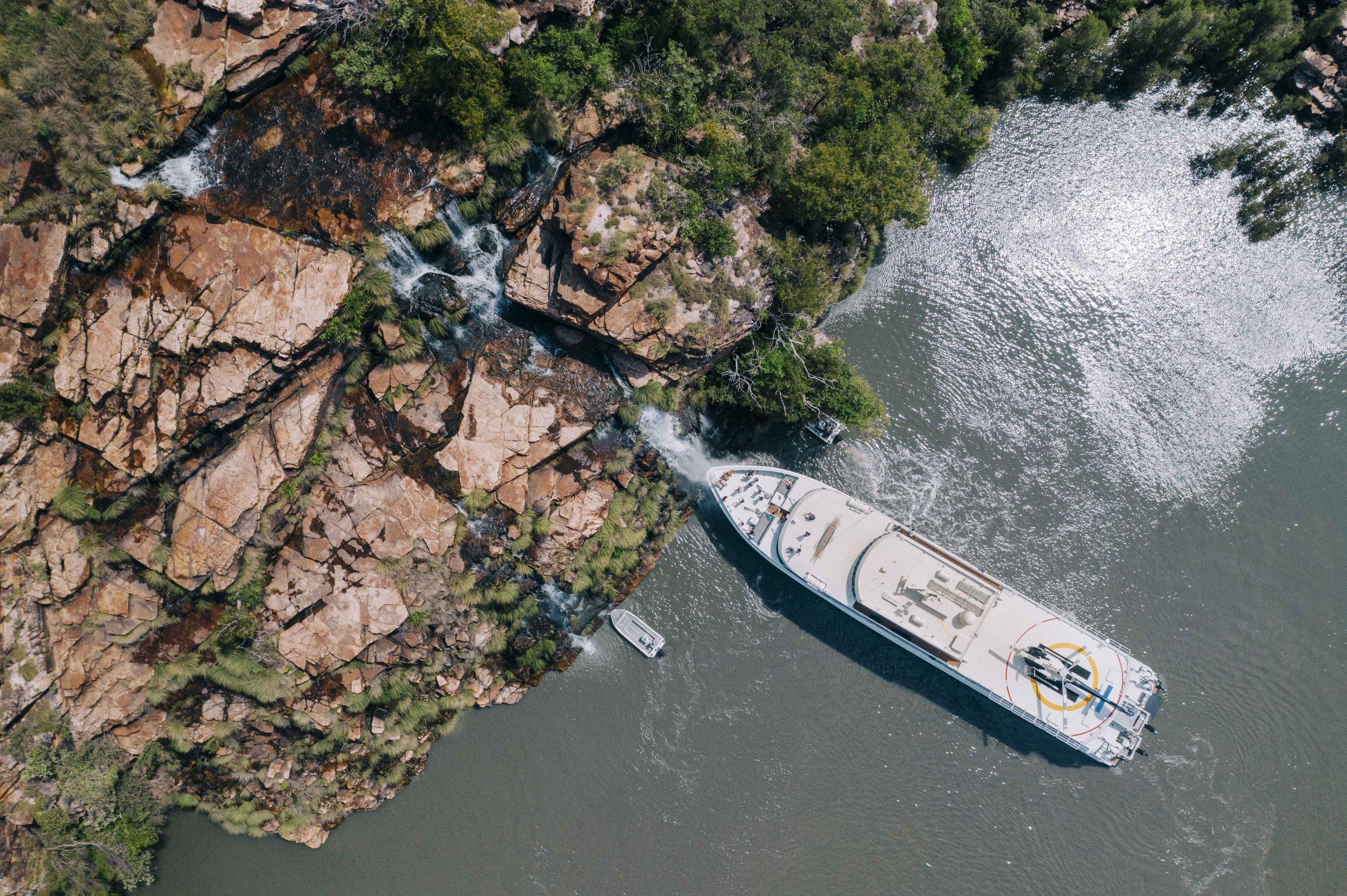 True North adventures cruise Kimberly waterfalls