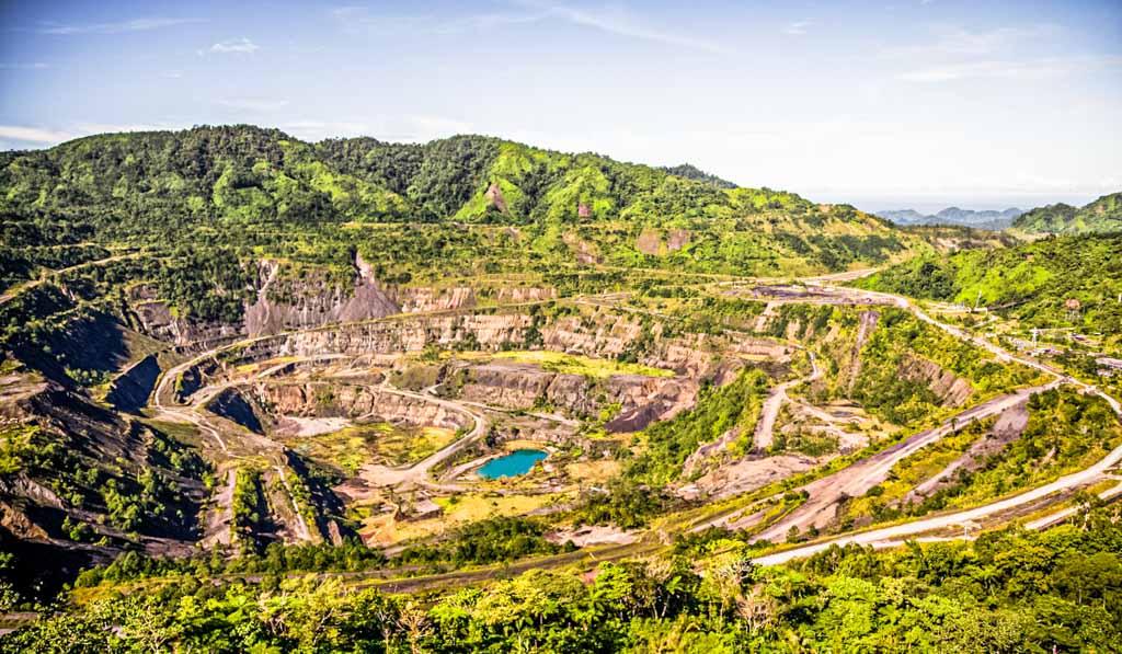 Panguna copper mine on Bougainville