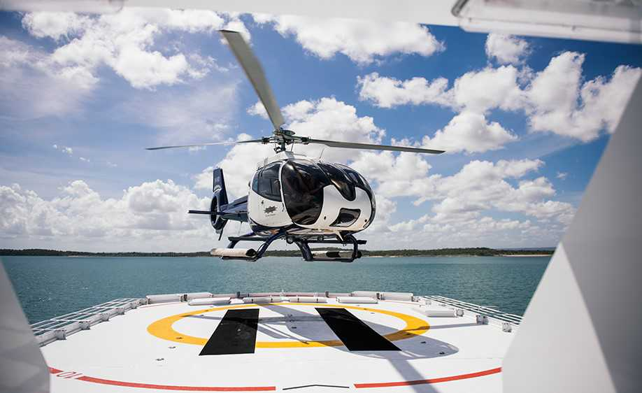 Fulltime on-board Helicopter - True North Expedition Cruise